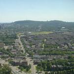 De heuvel Mont Royal in het midden van het eiland waar Montreal op ligt
