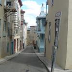 Nauw straatje in de oude stad