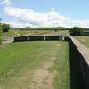 Op de muur richting citadel