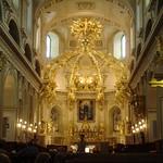 In de basiliek kathedraal Notre Dame van Quebec