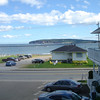 Uitzicht vanuit ons hotel
