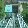 Schuine lift naar de lage stad