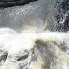 Waterval bij Quebec: Chute Montmorency: vanaf de loopbrug