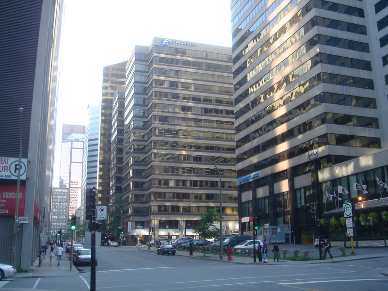 Moderne wijk in Montreal
