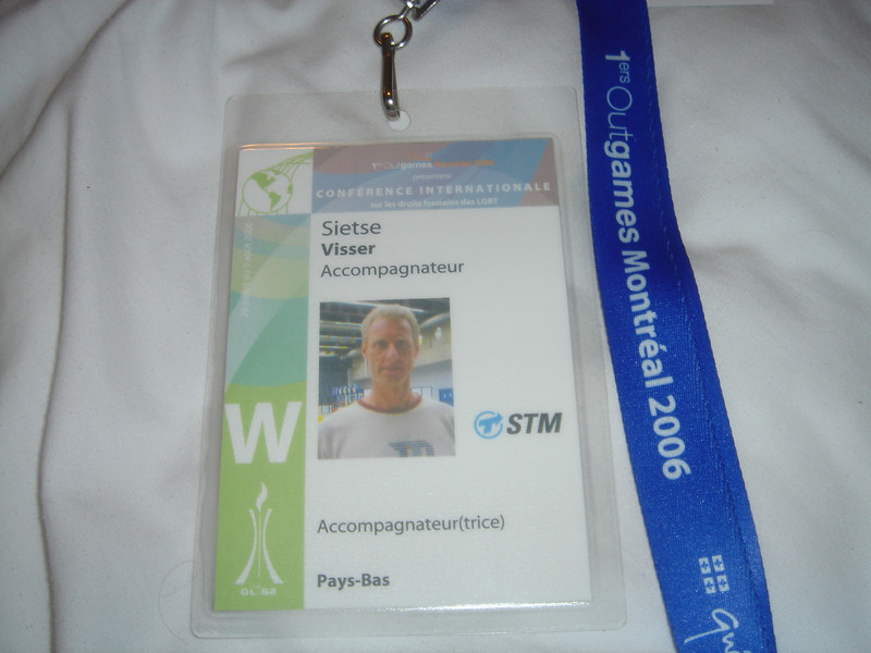 Ik was officieel Accompagnateur (begeleider)