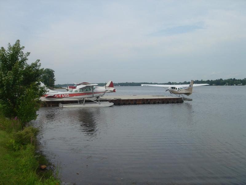 Aangemeerde watervliegtuigen