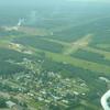 Vliegveld waar we een tussenlanding hebben gemaakt waar ook met watervliegtuigen gevlogen werd