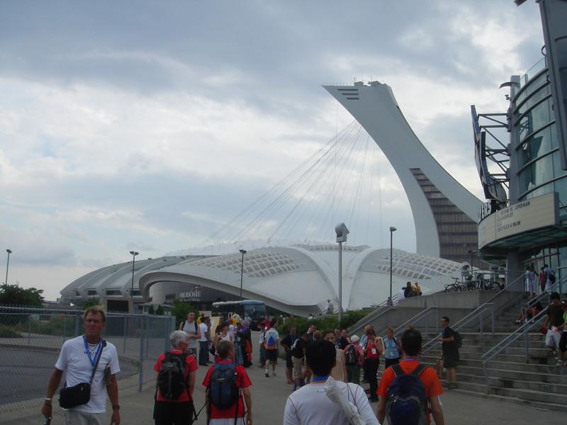 Olympisch stadion, vlak voor de opening van de Outgames