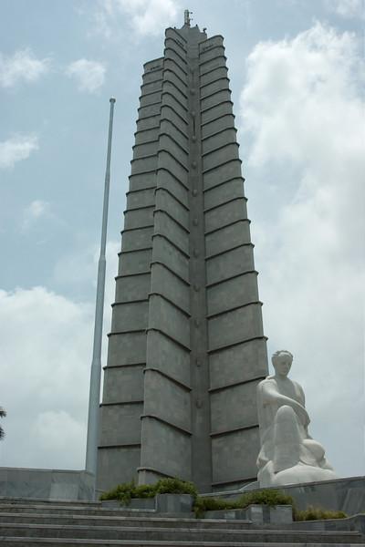 Het monument op het Plaza de Revolution
