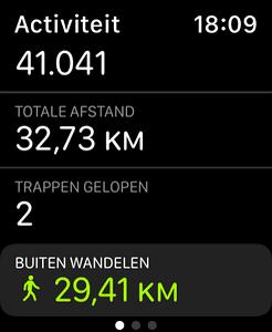 De route was ongeveer 29km