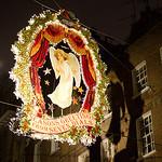 Kerstversiering in de straatjes bij ons hotel