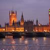 Parlement bij zonsondergang