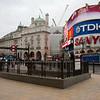 Piccadilly Circus; ondergrondse is vandaag dicht