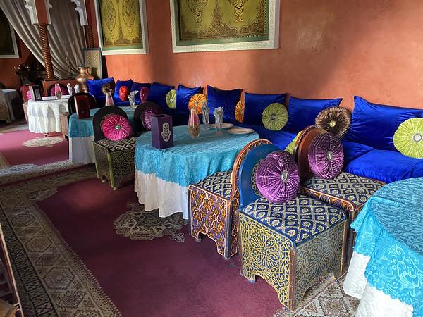 Restaurant bij het Bahia paleis
