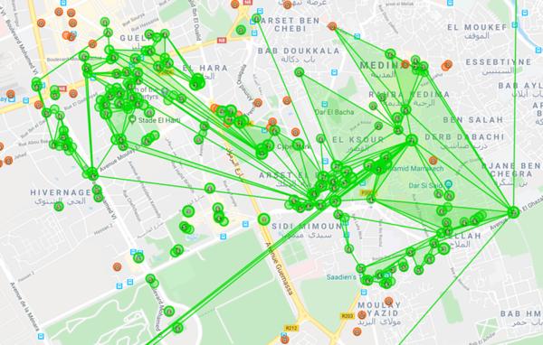 Bijna elke portal was oranje (level 0), we hebben het overgrote deel groen gemaakt.
