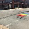 Veel regenboog vertoon