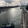 Uitzicht op de bruggen over het kanaal in Dublin