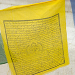 Elk vlaggetje heeft een stichtelijke tekst