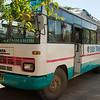 Met deze bus zijn we in 6 uur tijd naar Chitwan gereisd