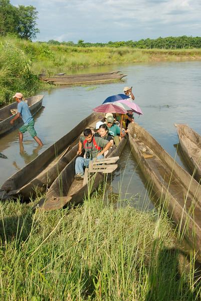 We gaan met een groep japanners bootje varen