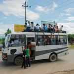 Gelukkig niet onze bus
