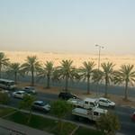 Uitzicht op een stuk Qatar's woestijn