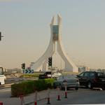 Rotonde bij ons hotel in Qatar