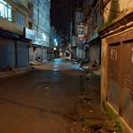 Trieste aanblik van de straten in de nacht