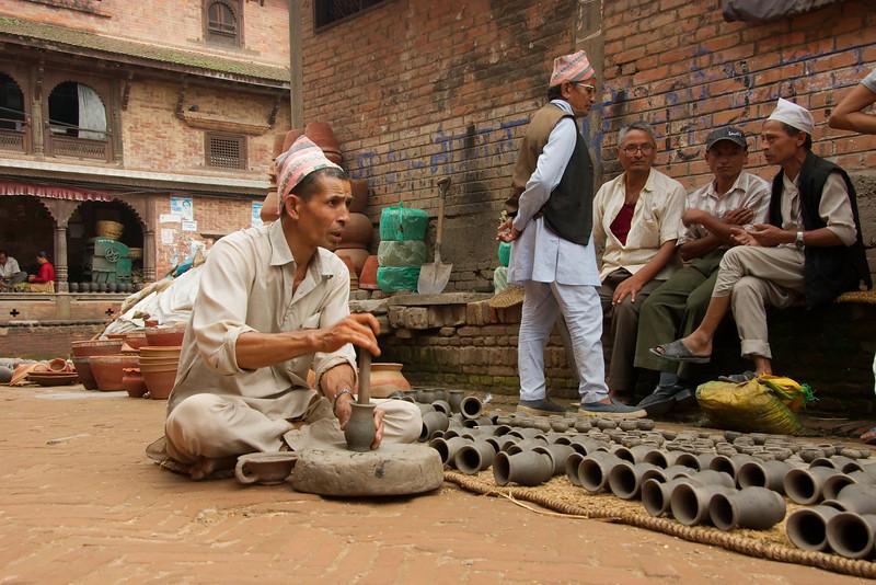 Durbar Square in Bhaktapur: pottenbakkersplein