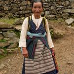 Leuk bergvrouwtje (die meteen geld wilde voor de foto)