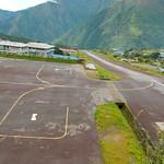 De steile landingsbaan
