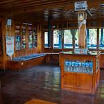 Restaurantgedeelte van ons hotel in Namche