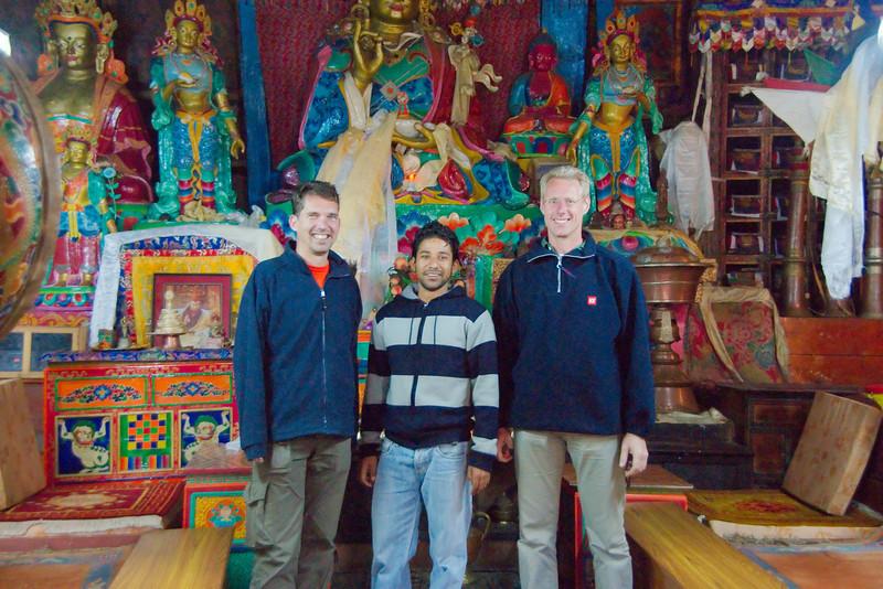 We waren er echt! Het klooster was speciaal voor ons open gemaakt.