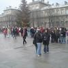 Grote drukte bij Notre Dame