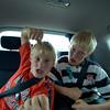 Dag 1: Gek doen in de auto