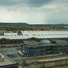 Uitzicht vanuit ons hotel in Dresden op het station