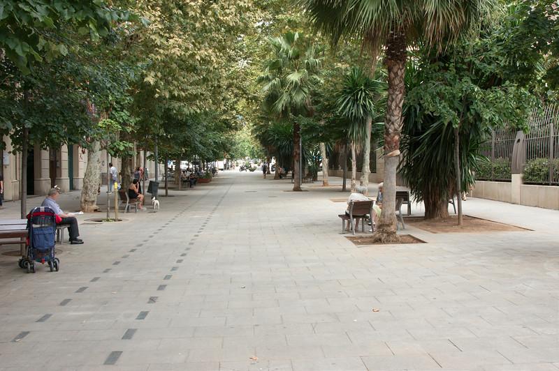 Brede straten in Barcelona