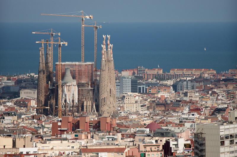 Sagrada Família vanaf park Guell