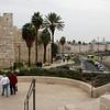 Zicht op de muur van Oud Jeruzalem