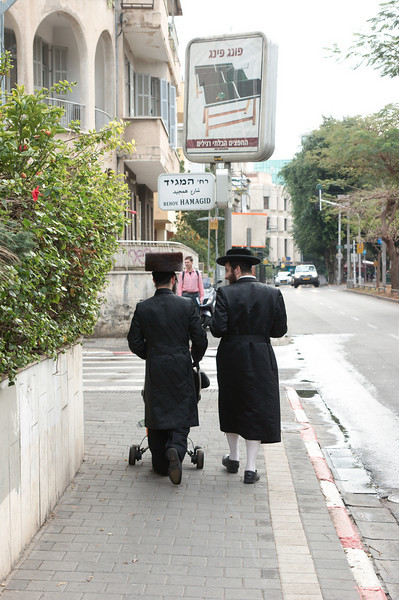 Orthodoxe joden zie je erg veel