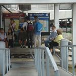Wachten op de busboot