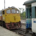 Oude lokomotief