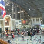 Treinstation Hualampong voor vertrek per pus naar Chiang Mai