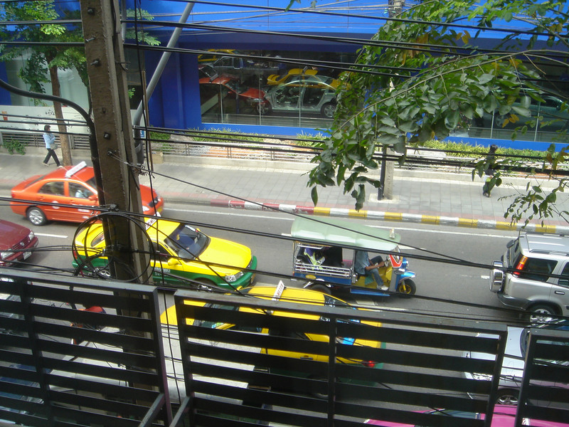 Eerste blik vanuit hotel