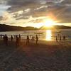 Patong Beach; elke dag volleybal