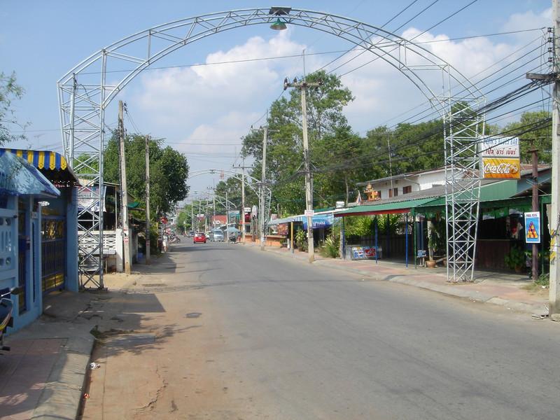 Straat in Kanchanaburi