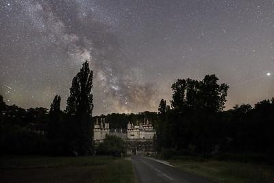 Le château d'Ussé en nocturne