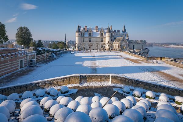 Le château royal enneigé