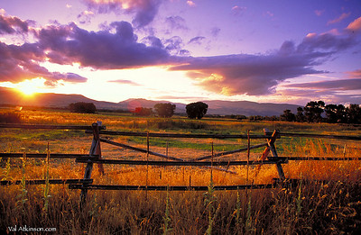 Sunset in Paradise Valley, Montana