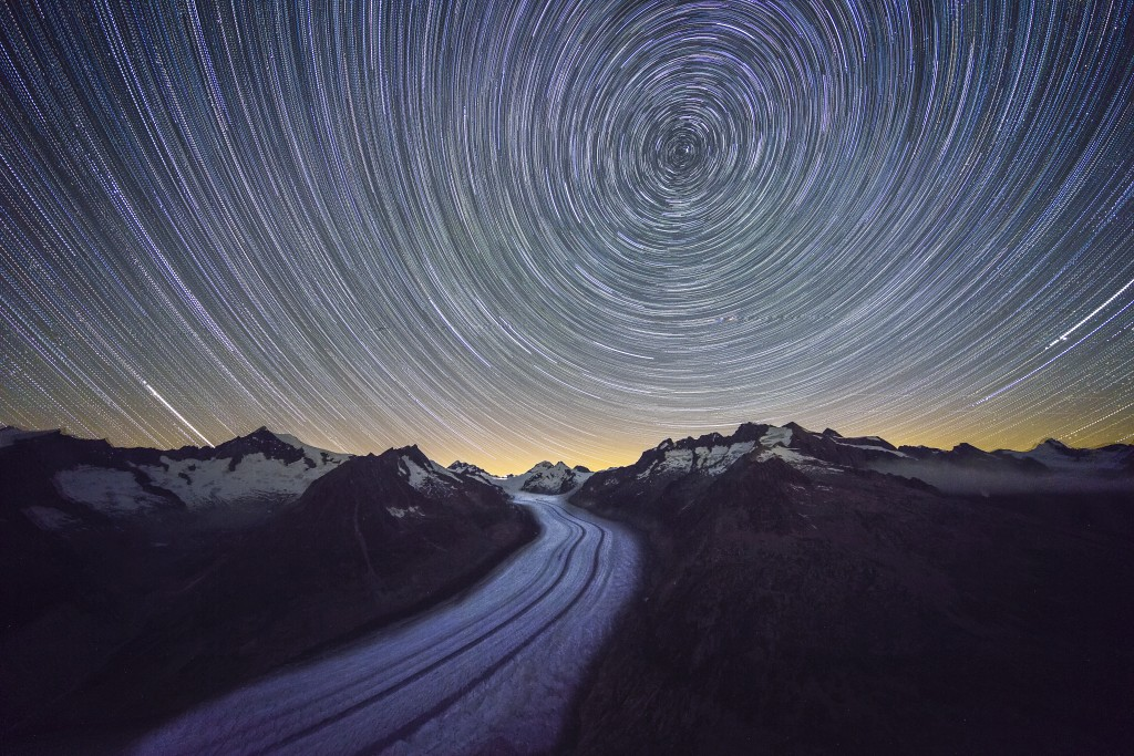 Aletsch Star Trail